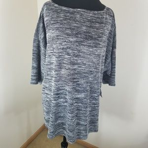 Just Fab Heather Comfy Striped Pattern Pullover